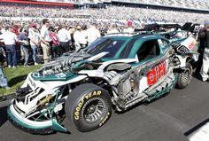 'Transformers 3′ NASCAR Wrecker Roadbuster, the No 88 Dale Earnhardt Jr. Chevy at the Daytona 500