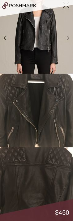 Shop Women's All Saints Black size 2 Jackets & Coats at a discounted price at Poshmark. Description: All Saints Conroy Leather Jacket (US In excellent condition. Sold by jeezjulz. All Saints, 2 In, Product Description, Leather Jacket, Coats, Best Deals, Womens Fashion, Jackets, Closet