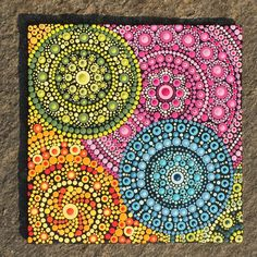 Mandalas so l♥️ve. Dot Art Painting, Pebble Painting, Pebble Art, Stone Painting, Painting & Drawing, Mandalas Painting, Mandalas Drawing, Mandala Painted Rocks, Mandala Rocks