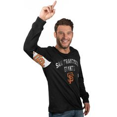 c22037263 Men s San Francisco Giants Hands High Black Long Sleeve T-Shirt Products