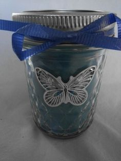 Blue Jolly Rancher scented candle
