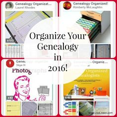 Organize Your Genealogy in 2016