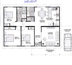 Helena 3 bedroom house