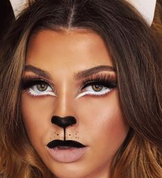 Are you looking for ideas for your Halloween make-up? Browse around this site for creepy Halloween makeup looks. Lion Halloween Costume, Creepy Halloween Makeup, Pretty Halloween, Simple Halloween Makeup, Tiger Costume, Simple Cat Makeup, I Love Makeup, Make Up Looks, Lioness Makeup