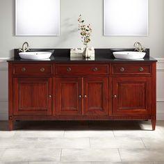 "72"" Hawkins Mahogany Double Vanity for Semi-Recessed Sink - Cherry"