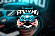 , Godhand Gaming - Mascot & Esport Logo- Suitable for your personal or squad logo, All elements on this template are editable with adobe Game Logo Design, Esports Logo, Baseball Mascots, E Sport, How To Make Logo, Professional Logo Design, Logo Nasa, Logo Templates, Design Templates