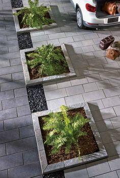 Pavers - Pavement and Garden Center R.P Montreal landscaping supplies - Pavers – Pavement and Garden Center R.P Montreal landscaping supplies - Front Garden Ideas Driveway, Side Yard Landscaping, Driveway Design, Front Yard Design, Backyard Patio Designs, Landscaping Supplies, Home Landscaping, Back Gardens, Driveways