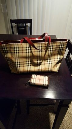 Burberry Tote And Wallet    eBay