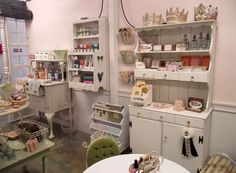This IS actually a shop, but the storage solutions would suit a scrap/craft room too...