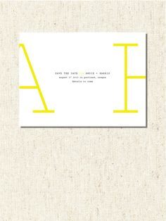 It's super simple and looks easy and not overly designed Yellow Wedding Invitations, Minimalist Wedding Invitations, Wedding Party Invites, Destination Wedding Invitations, Save The Date Invitations, Wedding Invitation Design, Save The Date Cards, Party Invitations, Modern Save The Dates