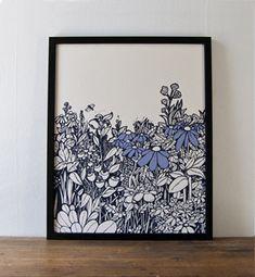 Screen Printed Artwork by Brainstorm via Oh So Beautiful Paper (8)
