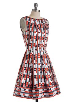 $75 Audrey's Top of the A-line Dress in Mod Dots | Mod Retro Vintage Dresses | ModCloth.com