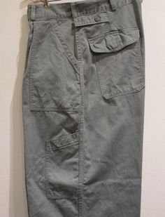 TROUSERS, UTILITY, COTTON, SAGE GREEN, HEMMED BOTTOMS, MIL-T-4335A(USAF)