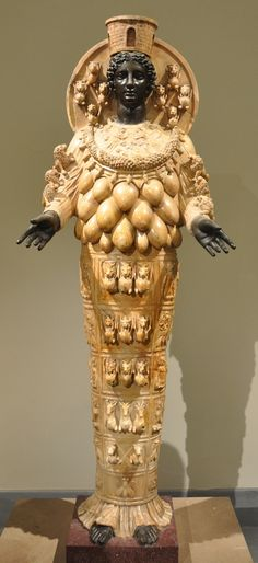 Artemis of Ephesus, Naples, Italy. Alabaster and bronze. Roman, second century CE.