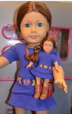 Saige and the mini doll  ~American girl fan