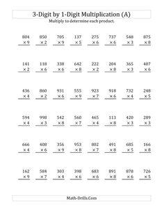 math worksheet : column subtraction 4 digits 4 digit subtraction worksheets  : Double Digit By Single Digit Multiplication Worksheets