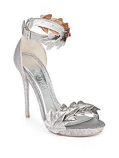 dcf7d18ac478 Alexander McQueen - Ivy Metallic-Leather Sandals