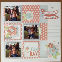 and here's the finished #ctmhzoe layout except for the journaling. I think Zoe and I are going to be great friends! ;) I love this paper pack! Don't forget it's available on my website starting August 1st. The link is in my profile.  #scrampingwithcarol