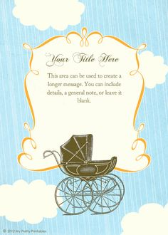 26 best baby shower e invitations images on pinterest invitation vintage pram designed by my pretty printables on pingg filmwisefo