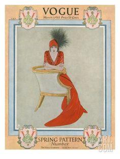 Vintage Vogue Covers, March 1, 1912 #VintageVogueCoversKisyovaLazarinova