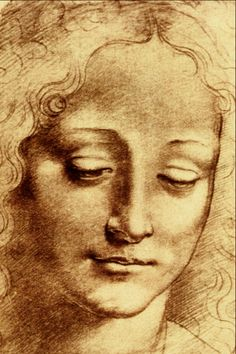 Teste di Giovinetta, Leonardo da Vinci - this face, this angle, he used her in several paintings - she must have been someone special 🌹 Michelangelo, Famous Artists, Great Artists, Renaissance Kunst, Oeuvre D'art, Rembrandt, Love Art, Painting & Drawing, Art History