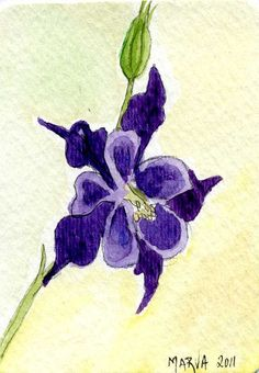 """ACEO LE Art Card Print 2.5/""""x3.5/"""" /"""" Bumblebee And Irises /"""" Art by Patricia"""