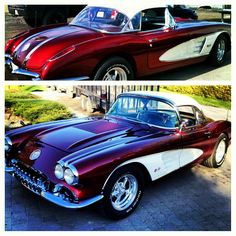 A 1958 Chevrolet corvette! Hot stuff! i prefer this than the latest models! what…