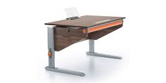 #moll #Winner #Nussbaum #Orange #Classic #Kinderschreibtisch #growingtogether #healthyfurniture #studentdesk
