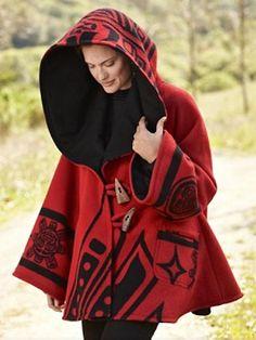 Lindsey Thornburg Raven Trench Cloak Pendleton $1430.00