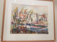 Germaine Brus - Aquarel - Far niente - * 38 cm Fauvism, Antwerp, Impressionism, Still Life, Portrait, Canvas, Flowers, Painting, Color
