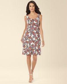 Soma Intimates Ruffle Hem Short Dress Distinct Paisley #somaintimates