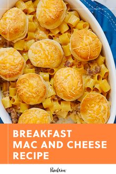Breakfast Mac and Cheese  #purewow #food #pasta #cooking #recipe #breakfast #brunch #cheese Best Brunch Dishes, Best Brunch Recipes, Breakfast Dishes, Breakfast Cooking, Brunch Food, Favorite Recipes, Breakfast Club, Cooking Cheese, Cheese Food
