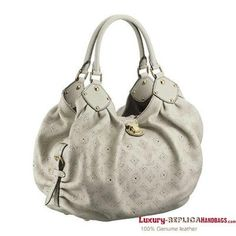 Louis Vuitton Mahina Leather L Gris  $259.00   There are various models of Louis Vuitton bags. You will find the one that fit your style here.  Louis Vuitton Mahina Leather L Gris     Styled in exceptionally supple leather, the Mahina L medium sized bag associates elegance and modernity with attitude by reinterpreting the Monogram through an innovative perforation technique.