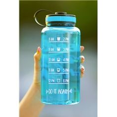 Good Vibes Only Jewel Timer Bottle in Aqua