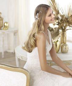 Principales tendencias en peinados para novias 2014. Foto Lookbook Pronovias 2014.