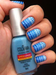 **Colorama Azul Celeste** Plaquinha konad 60, Top Coat Vefic.