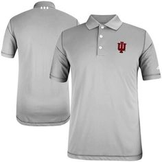 eb6e5f65ac0c Indiana Hoosiers adidas Puremotion Solid Golf Polo - Gray