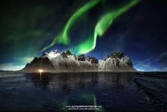 NorthernLights over Stokksnes by Juan Pablo de Miguel on #500px #photography #auroraborealis #travel #photo