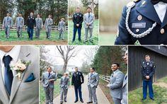 Military wedding, from Kelley and William's Cedarwood wedding! Photos by Krista Lee. #wedding #military #grey #navy #spring #cedarwoodweddings #rustic #outdoor