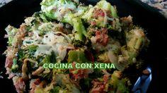COCINA CON XENA: Brócoli con jamón y queso