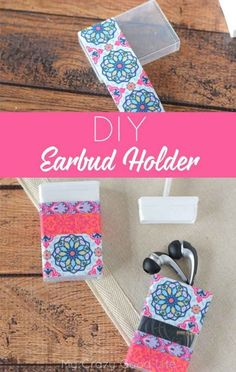 DIY earbud holder from tic tac container. 102 Tips, Tricks, & Hacks To Simplify Your Life