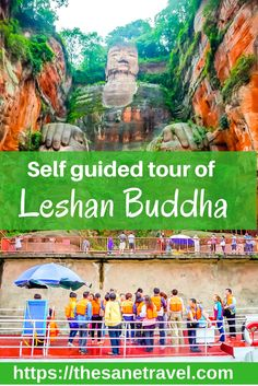 The Giant Buddha at Leshan in #China has for decades been one of the brightest stars among Chengdu's tourist attractions. It's located in a beautiful park setting in #Leshan, about a two-hour drive from #Chengdu. Here is how to do a self guided tour of Leshan Buddha. #travel https://thesanetravel.com/travels/china/leshan-buddha