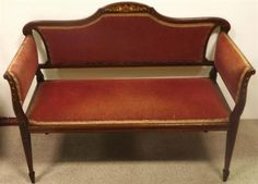 Lot 197 – Very Unusual Edwardian Mahogany / – Auction of Antiques and Fine Art 17 Feb 2014 17 Feb, The Saleroom, Fine Art Auctions, Antique Auctions, Love Seat, Miniatures, Couch, Antiques, Furniture