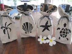 Coastal Decor Ideas, Nautical & Beach Decorating & Crafts: Wine Gift Bag