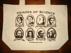 Heroes of Science Tote bag.  Take your love for science on the go!