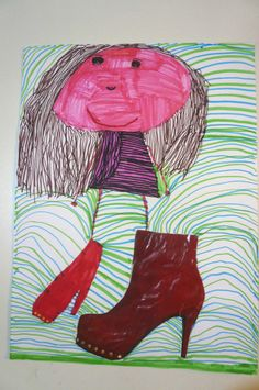 """""""Niña con botas"""" Collage V.C."""