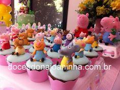 Festa Peppa Pig - Mini cupcakes decorados