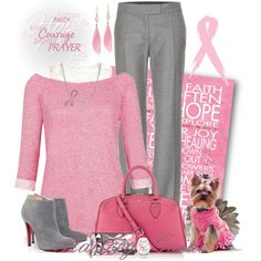 """""""October ~ Breast Cancer Awareness Month"""" by flattery-guide on Polyvore"""