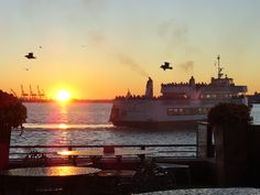 Sunset at the Liberty Island