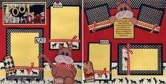 Cool Cat 2 Premade Scrapbooking Pages Paper Piecing Kitten 4 Album by Cherry | eBay